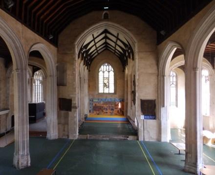 Interior looking east