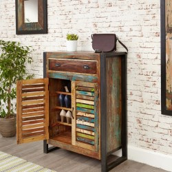 Reclaimed Wood Shoe Cupboard