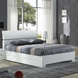 High Gloss Double Bedframe