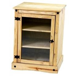 Pine Hi-Fi Entertainment Unit Storage