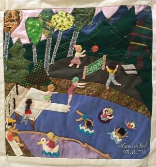 Norwich Pool. Mimi Sensenig, Quilter