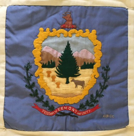 Vermont State Seal. Alice Brady & Dorothy Emerson, Quilters