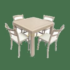 rekomendasi meja makan plastik empat kursi