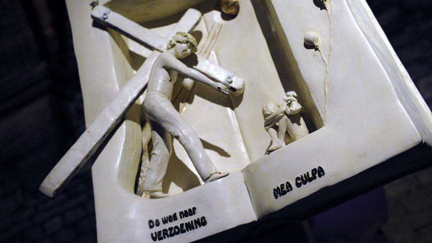 Sculpture in Maastricht church, photo: ANP