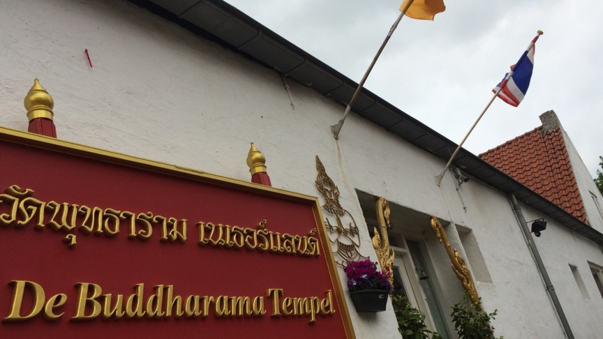 Buddhist temple in Waalwijk, the Netherlands, photo: Michael de Smit / NOS
