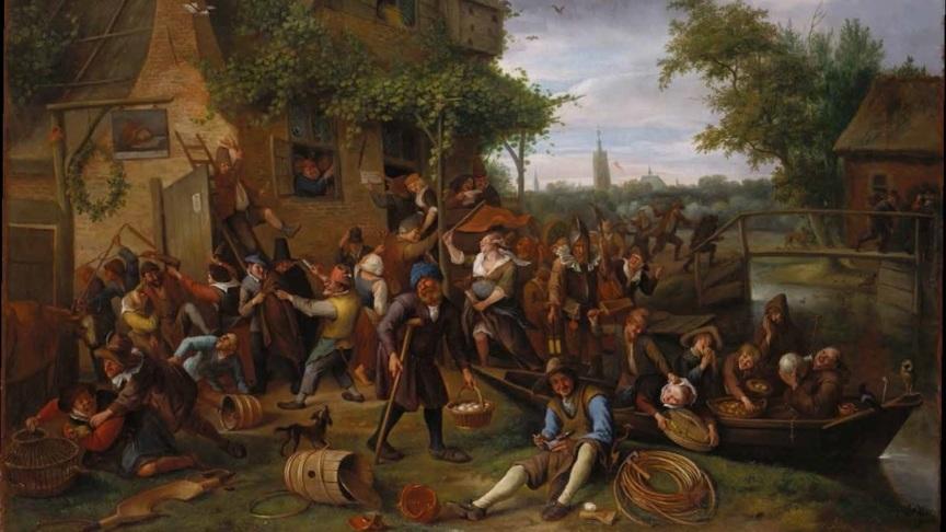 Jan Steen painting, uncensored version