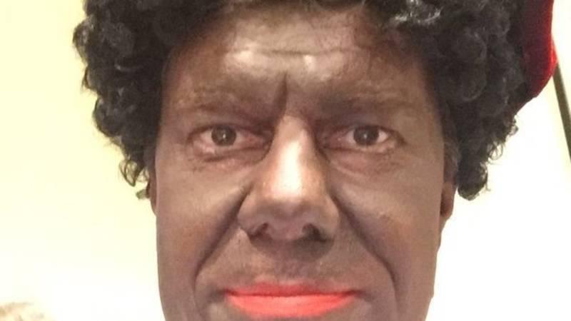 Minister Sven Gatz in blackface