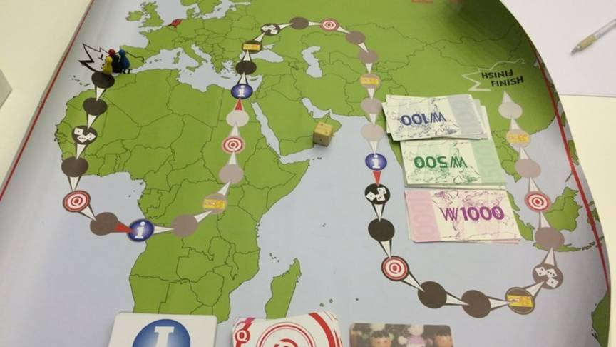 The new Fortress Europe board game, photo Maurice Vos/RTV Drenthe