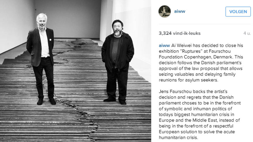 Artist Ai Weiwei and gallery director Jens Faurschou