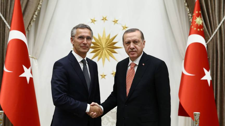 Stoltenberg and Erdogan, AFP photo