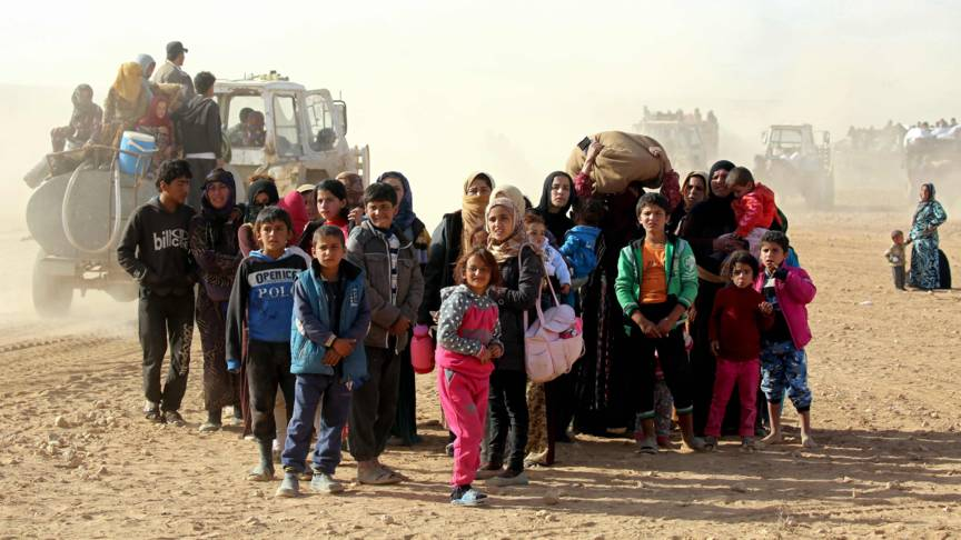 Syrian refugees from ISIS terrorism, AFP photo
