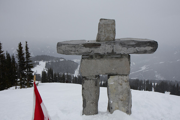 Inukshuk at Roundhouse Lodge on Whistler