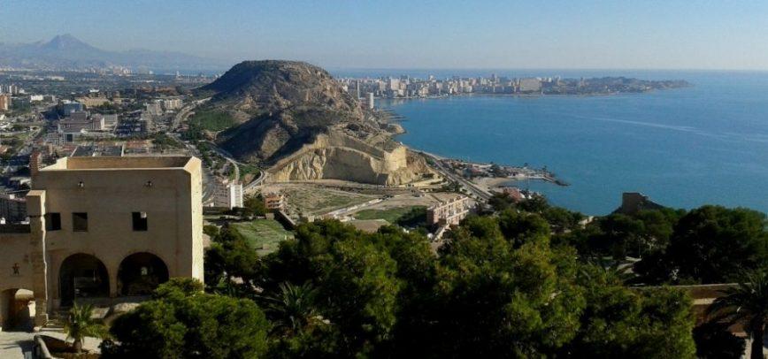 Vistas desde el Castillo de Santa Bárbara (Alicante, 2016)
