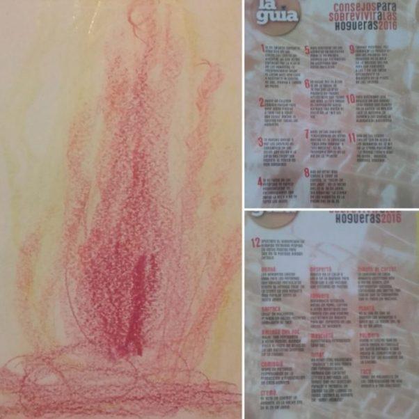 """Dibujo de Ernest para la celebración de las hogueras en su escuela y recomendaciones para disfrutar """"Les Fogueres 2016"""""""