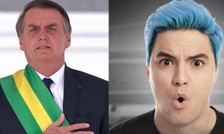 No 2º dia do ano, Bolsonaro é criticado por Felipe Neto