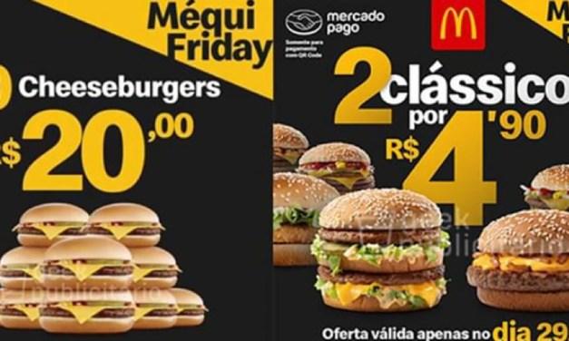 McDonald's terá dois sanduíches vendidos por R$ 4,90 na Black Friday