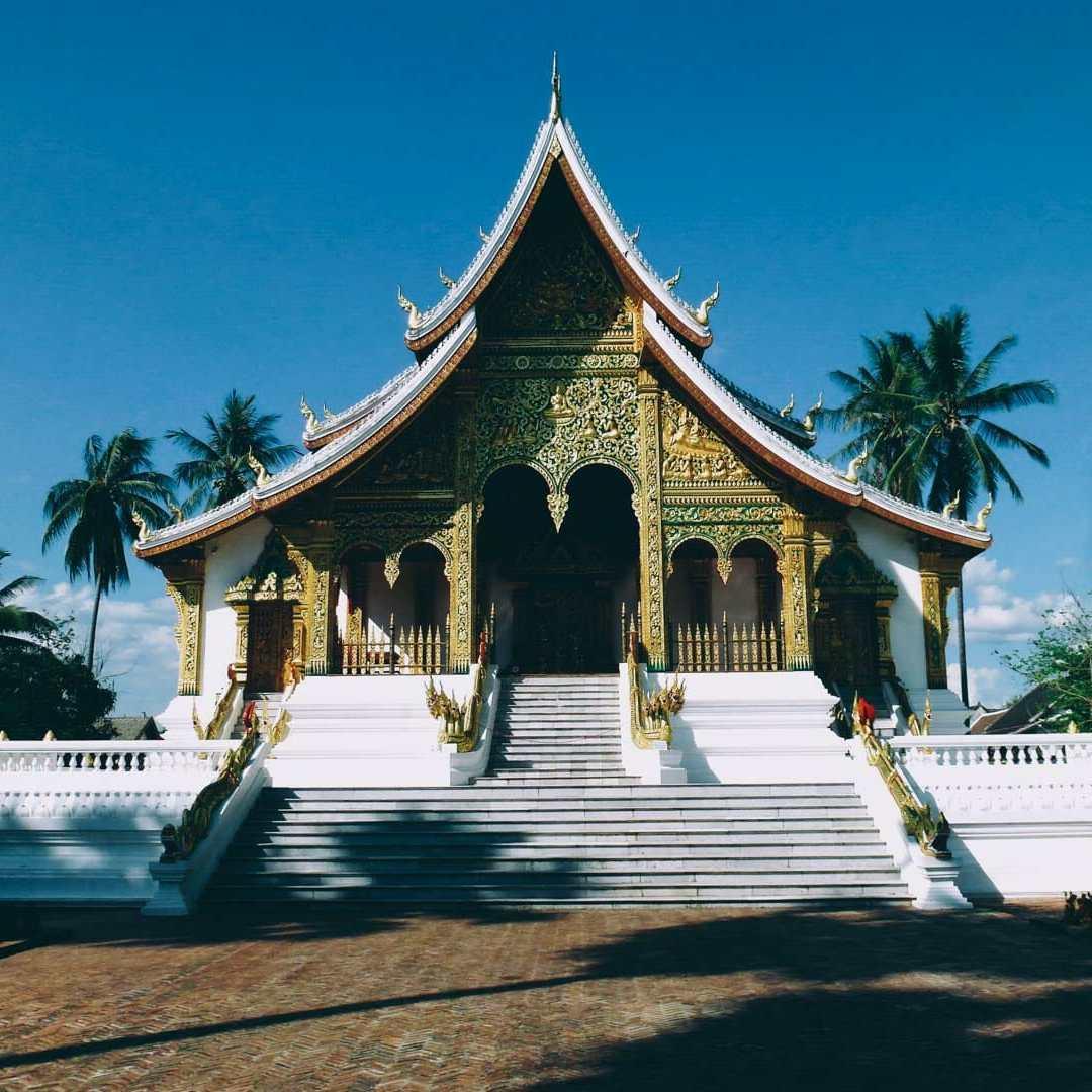 temple centre ville luang prabang
