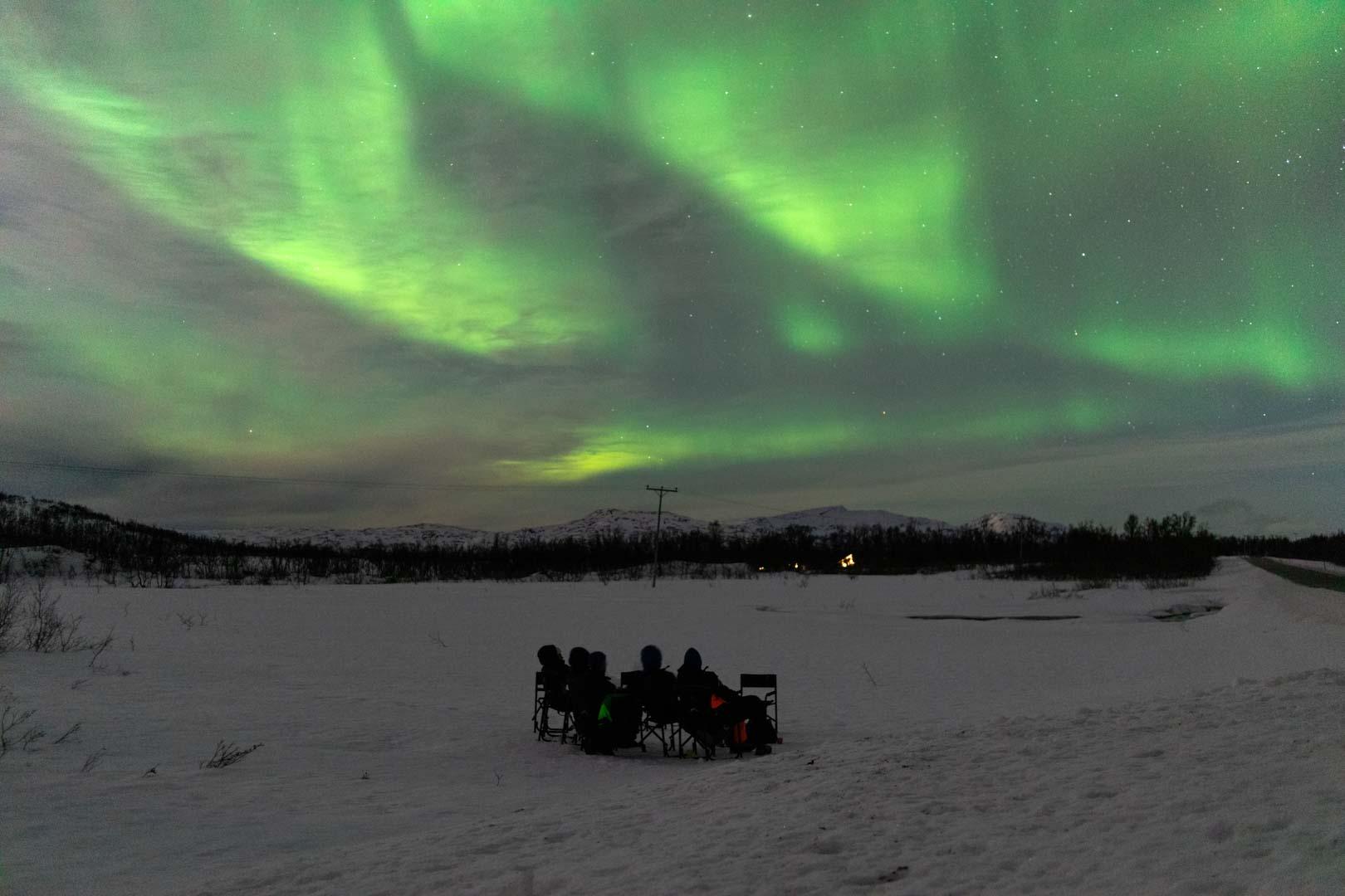 aurore boreale tromso norvege