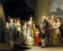 retrato goya familia carlos v