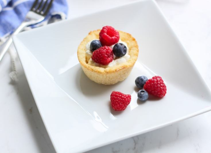 Lemon Berry Cheesecake Cookie Cups