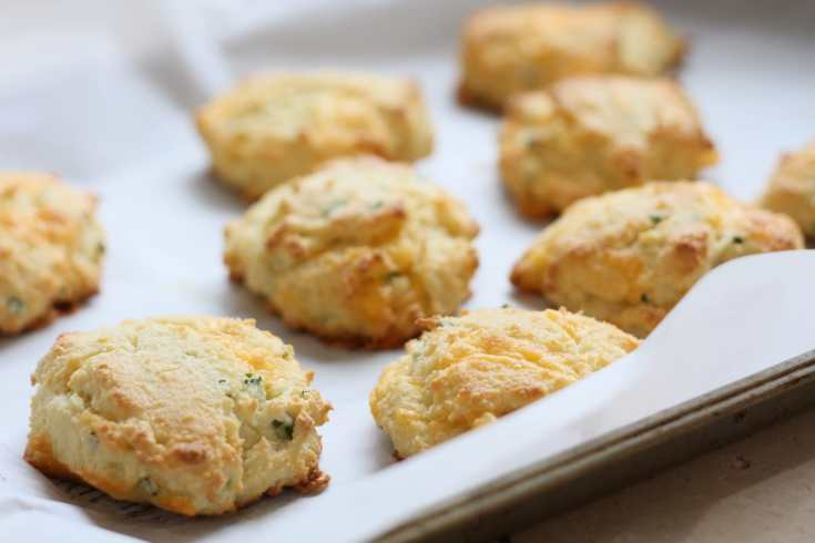 Low Carb Cheddar Chive Biscuits