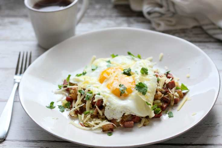Low Carb Cabbage and Corned Beef Hash