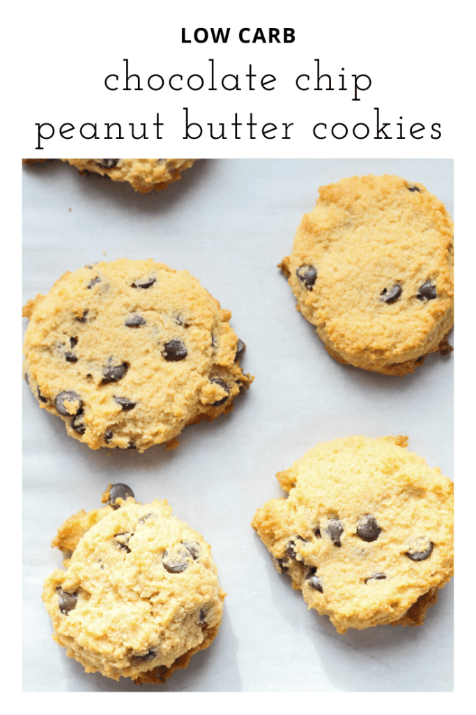 low carb chocolate chip peanut butter cookies