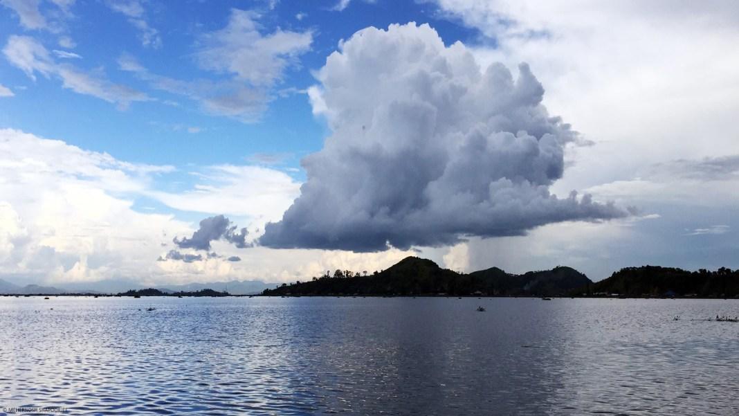 Cloudburst over Loktak Lake
