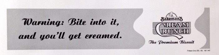 Bakeman's Cream Crunch Campaign, Trikaya Grey, 1994