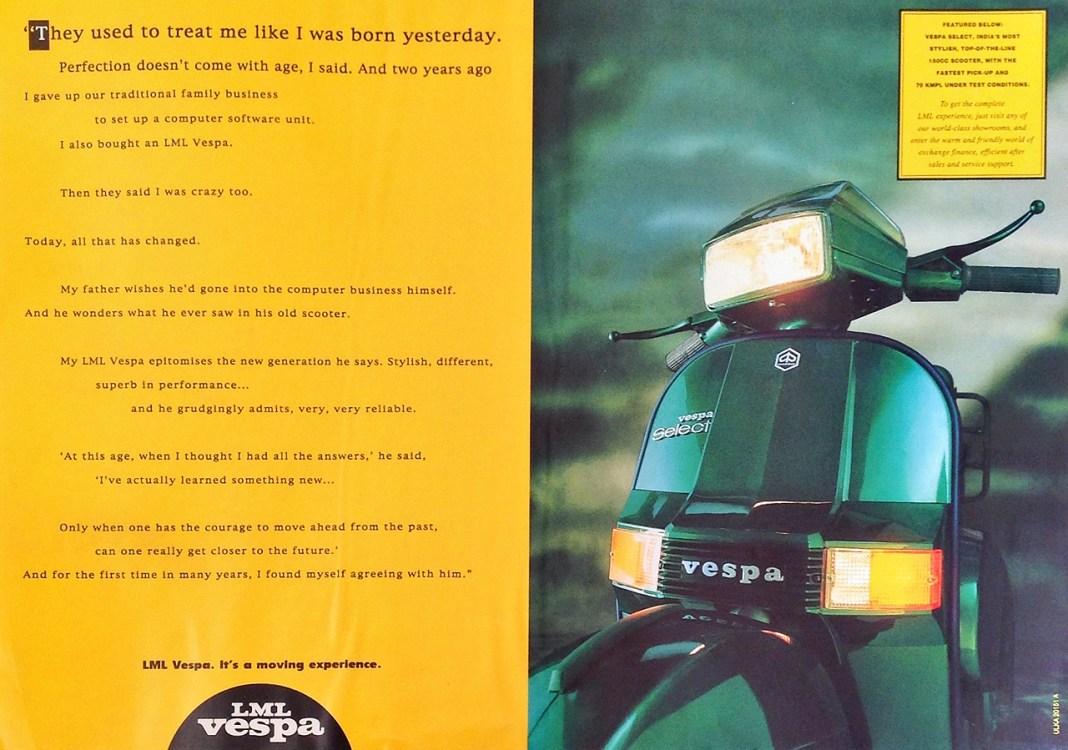 LML Vespa Brand Campaign 1996