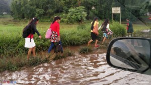 Young girls off to school and college, in Meghalaya