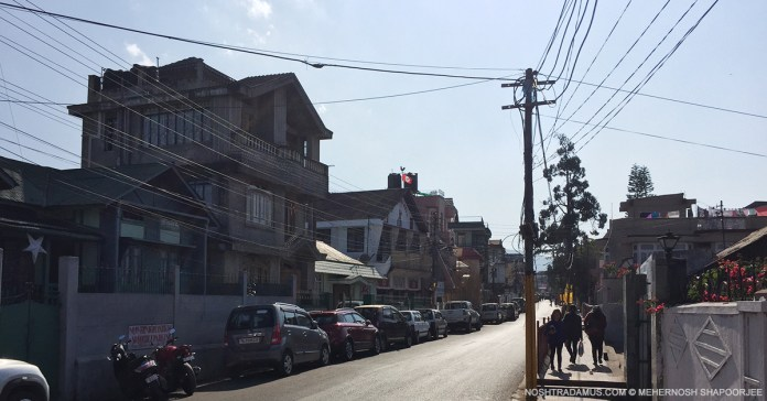 Clean streets and proper parking in Mawkhar in Shillong, Meghalaya