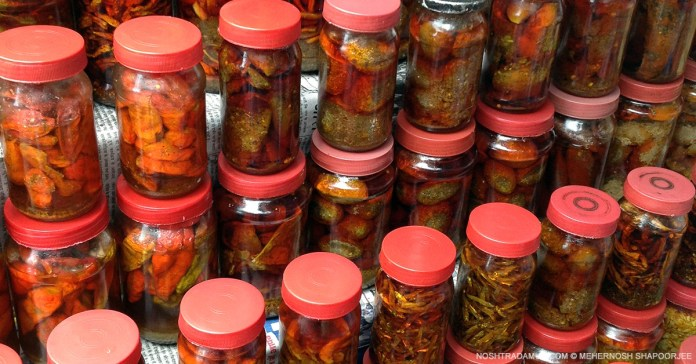 Khasi pickles of fish, roots, and even unknown edibles