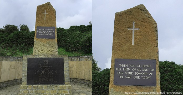 Kohima War Cemetary – For your tomorrow we gave our today