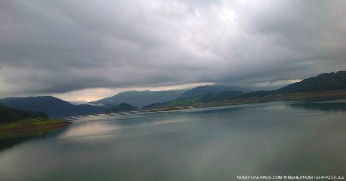 Lakeside view of Umiam Lake, aka Bara Paani