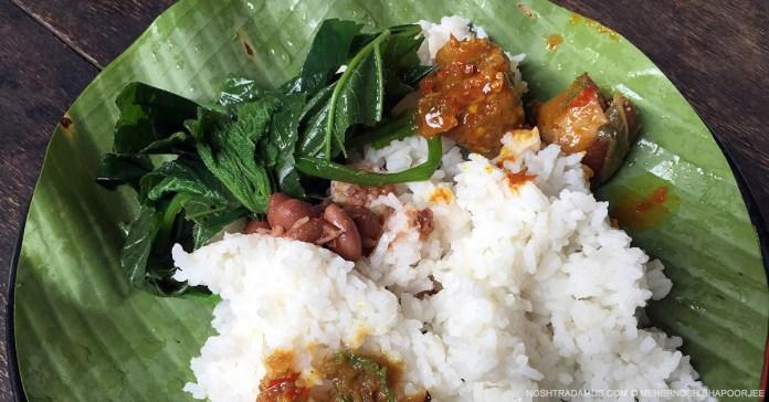 Naga food at Chapru, Dimapur - Kohima Highway, Nagaland