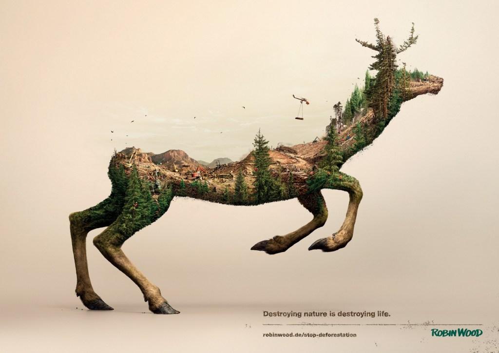 Robin Wood - Destroying nature is destroying life Deer