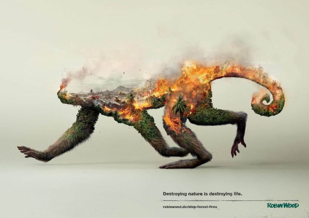 Robin Wood - Destroying nature is destroying life Monkey
