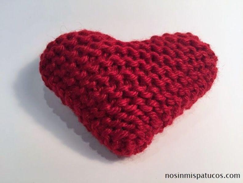 corazón tejido