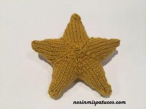 Estrella de Navidad tejida.