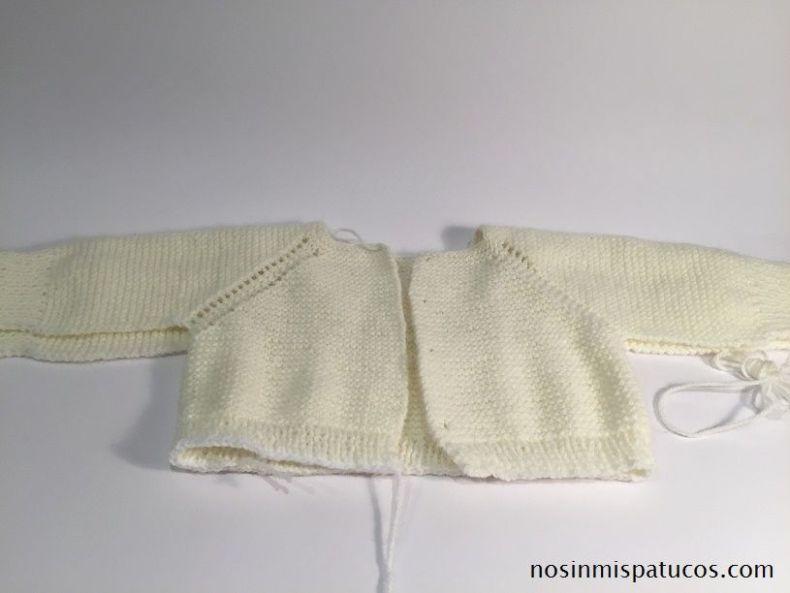 Chaqueta bebe tejida a mano no sin mis patucos - Tejer chaqueta bebe 6 meses ...
