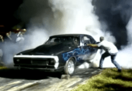 67 Camaro Burnout