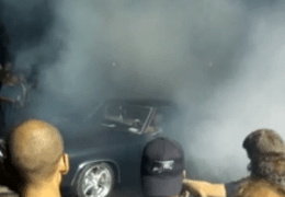 Pre Lead East Show burnout