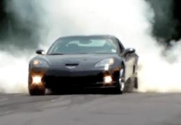 Corvette smoking em
