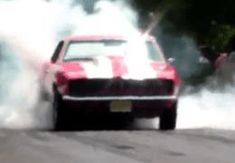Cars doing Burnouts at Profab