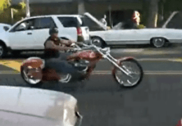 Nice chopper cruising
