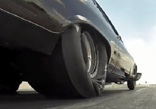 This would be a typical slick launching at a  drag strip