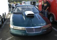 Front view of Mark VIII at the Shakedown at E-town in the pits