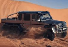 A bit of Mercedes Benz 6x6 drifting out in the desert