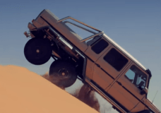 This Mercedes Benz 6x6 shows that it is capable of making hard transitions